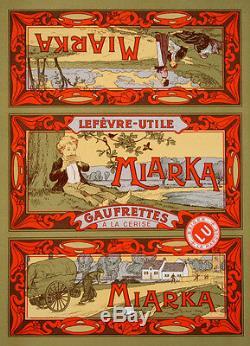 Original Vintage Affiche Miarka Cookie Étiquetage Art Nouveau 1910 Français