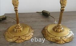 Paire de Lampe Art Deco/art Nouveau, lampe vintage, lampe bureau