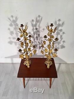 Paire de chandeliers Bronze Vintage