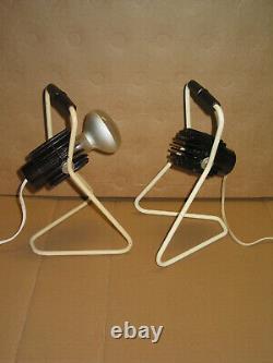 Paire de lampes de chevet ou autre PHILIPS en bakélite vintage design industriel
