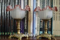 Paire vintage de lampe de table art nouveau Mid century 1960