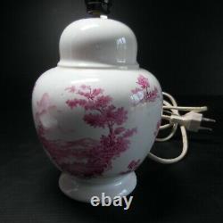 Pied de lampe céramique faïence éclairage vintage PN art déco France N4744