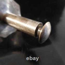Pince à sucre métal argenté ou inox Art Déco Design vintage XXe PN France N3194