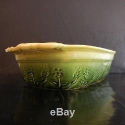 Plat céramique faïence BCI Bretagne vintage art nouveau déco XXe PN France N2856