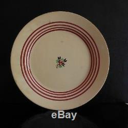 Plat céramique faïence HS vintage art nouveau déco design XXe PN France N2975