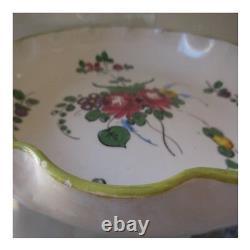Plat céramique faïence fait main ITALY vintage art nouveau déco PN France N75