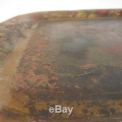 Plateau de service paon vintage art nouveau art-déco antiquité