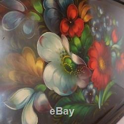 Plateau service bouquet fleuri vintage art nouveau déco design PN France N2957