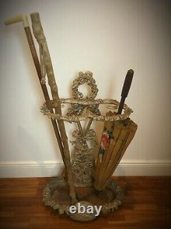 Porte Parapluie-canne en fonte (lourd 10kg) vintage style Art Nouveau champêtre