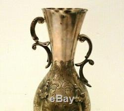 Pot Antique Argent Massif 800 Art Nouveau Vintage Ans'10 Italie