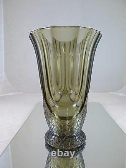 Pot Vintage En Verre en Forme De Calice Art Nouveau Danemark Scandinavie R24