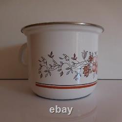 Pot casserole métal émaillé vintage art nouveau déco design XXe PN France N2854