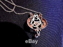 Rare Collier Ancien Art Nouveau Perles Fines Or 18 / Vintage Gold Necklace