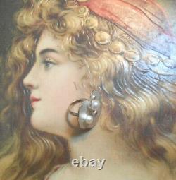 Rare bague ancienne Art Nouveau vintage argent perle améthyste citrine