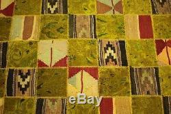 Rarité Vintage Patchwork Orient Tapis Erlesen Design 300x200 Art Déco 2210