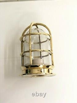 Replica Nautical Brass Vintage Style Ceiling Wall Mount Bulkhead Light Lot 10