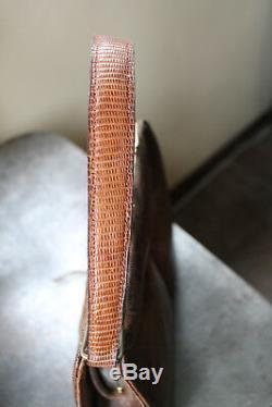 Sac à main en cuir vintage style art déco