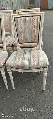 Salon Style Louis XVI/chaises+fauteuils/déco chic vintage/vintage chairs
