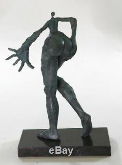 Salvador Dali Vintage Véritable Bronze Métal Femelle Moderne Surréaliste en Art