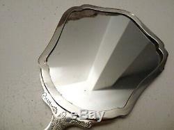 Set de Toilette Balais et Miroir Argent 800 Art Nouveau Vintage Ans'20