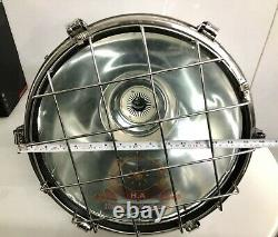 Stainless Steel Silver Vintage Industrial Conical Ceiling Pendant Ship Light