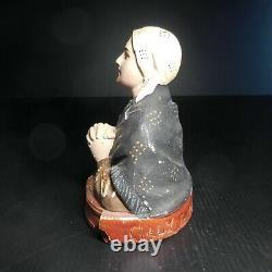 Statue figurine femme religieuse vintage GALLY Toulouse design fait main N6611
