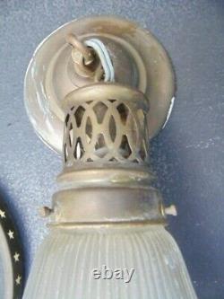 Suspension Vintage Type Holophane 1920 Disign Industriel Atelier Art Nouveau