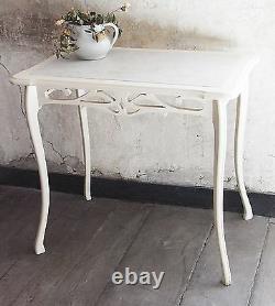 Table + 2 sellettes ancienne en bois et marbre art nouveau 1900 vintage XX