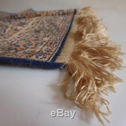 Tapis laine fabrication machine vintage art nouveau design XXe France N2326