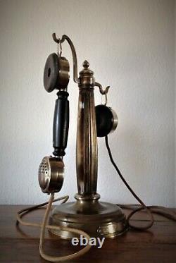 Telephone Ancien Colonne Art Nouveau Grammont Vintage Phone Telefon