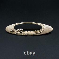 Très belle broche Ecossaise vintage Ola Gorie inspiration Art Nouveau or 9 carat