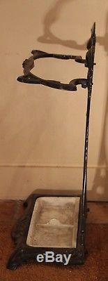 Umbrella holder French Art Nouveau Porcelain Cast Iron Umbrella Stand Vintage