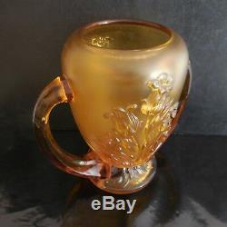 Vase en verre fait main vintage art nouveau déco design XXe PN France N2915