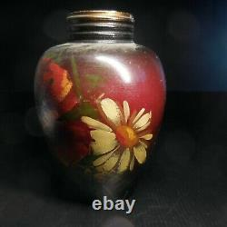 Vase poterie récipient céramique porcelaine fait main vintage art nouveau N6629