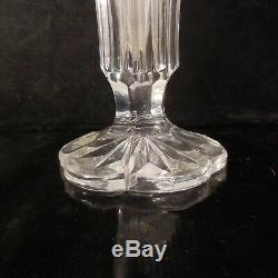 Vase soliflore verre cristal vintage design XXe art nouveau déco PN France N2816