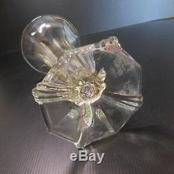 Vase verre cristal original vintage art nouveau déco design XXème France N6040
