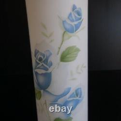 Vase verre opalin opaque vintage art nouveau déco 1920 fleur maison Japon N5035