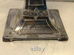 Vintage Ancien Taille Queen Ville Argent Co. Plaqué Art Nouveau Style Candélabre