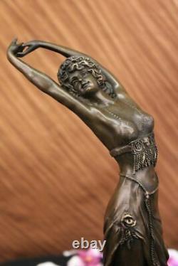 Vintage Art Nouveau Déco Bronze Harem Danseuse Par Colinet Chaud Fonte Home Deal