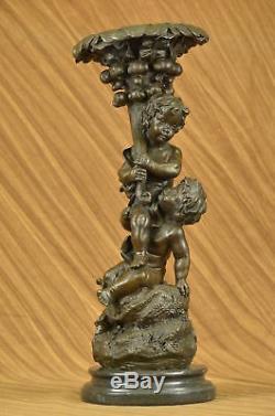 Vintage Art Nouveau Français Bronze Sculpture Figurine Hot-Cast Décor Maison