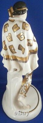 Vintage Art Nouveau Schwarzburger Verkstâtten Porcelaine Dame Figurine Figurine