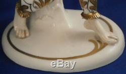 Vintage Art Nouveau Schwarzburger Werkstatten Porcelaine Dame Figurine Figurine