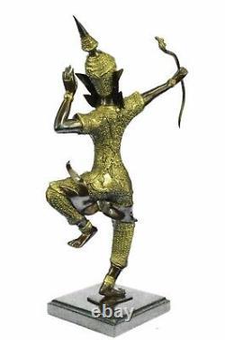 Vintage Bronze Hindou Dancer Déesse Statue Religieux 10 Rama Art Cadeau