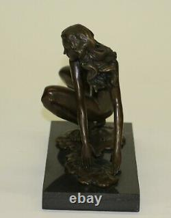 Vintage Bronze Sculpture Abstrait Mi Siècle Moderne Cesaro Moderniste Art Deal