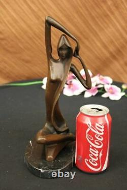 Vintage Bronze Sculpture Abstrait Mi Siècle Moderne Milo Moderniste Art Déco Nr