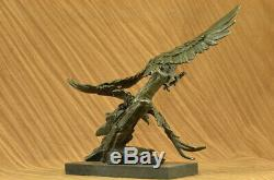 Vintage Collection Main Bronze Vif Aigle Statue Art Déco Original Décor