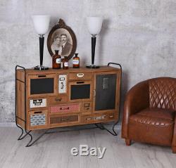 Vintage Commode Art Déco Console Armoire de Salon Loft Studio Buffet Ancien