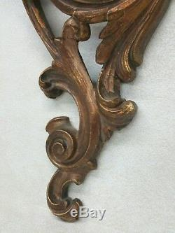 Vintage Doré Bois Support Mural Étagère Roccoco Art Nouveau Style