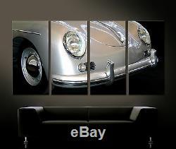Vintage Façades Détails Porsche 356 Speedster Art Toile Peinture Tableau 60er