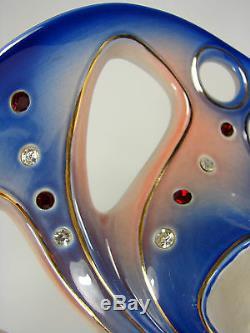 Vintage Galos Superbe Porcelaine Art Nouveau Carnaval de Venise sur socle 38 cm